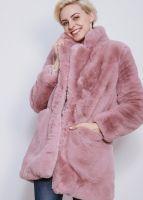 Fake Fur Jacke, rosa