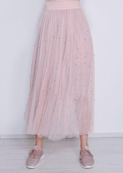 Tüllrock mit Perlen, rosa
