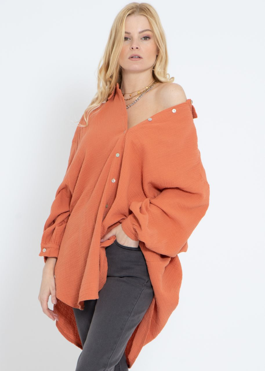 Ultra oversize Blusenhemd, hummer