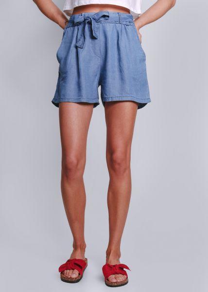 Shorts mit Bindegürtel, jeansblau