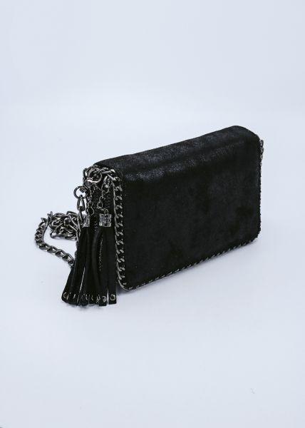 Geldbörse/Clutch zum Umhängen, schwarz