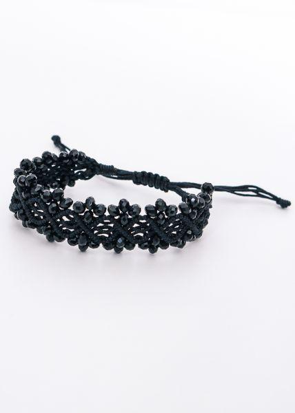 Armband mit Perlchen, schwarz