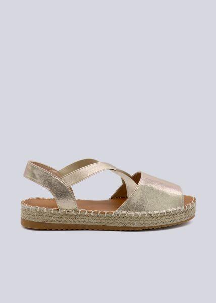 Sandalen mit Plateau, gold