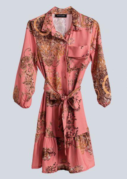 Mini-Hängerchenkleid mit Print, rosa