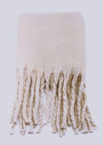 Schal mit langen Fransen, offwhite