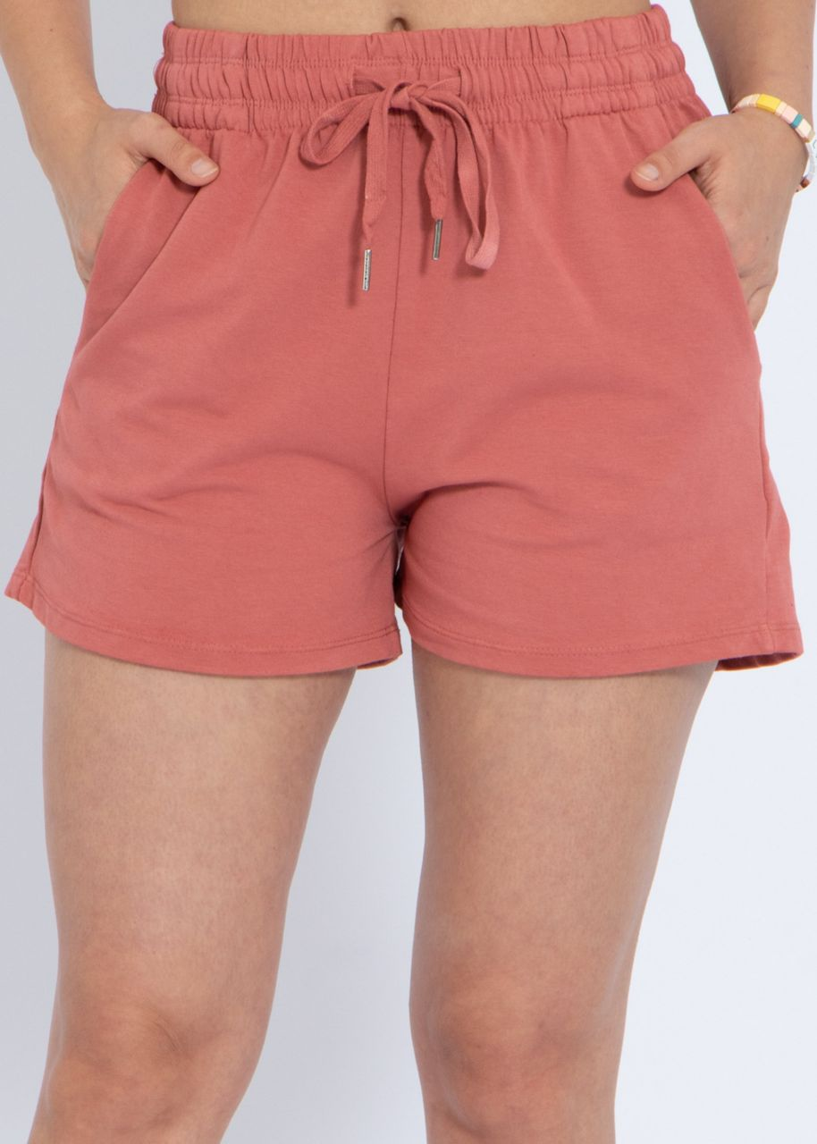 Jersey-Shorts, terracotta