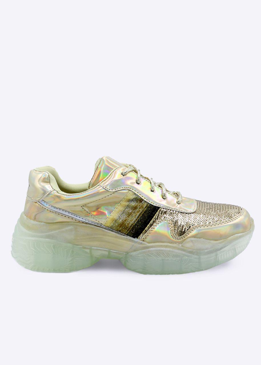 Plateau-Sneaker, gold