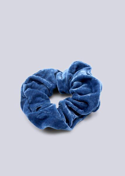 Scrunchie aus Velvet, blau