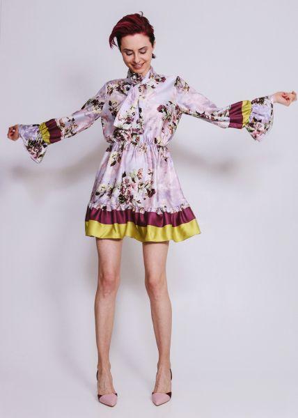 Kleid mit Blumen-Print, flieder