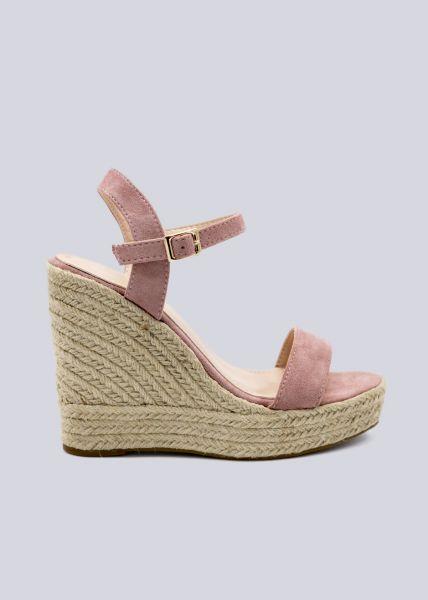 Sandaletten mit Keilabsatz, rosa