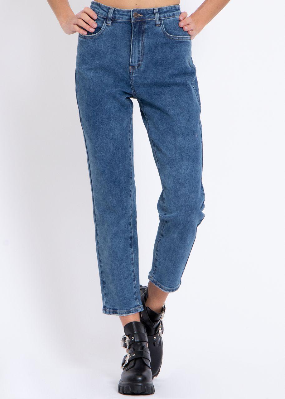 Mom-Jeans, blau