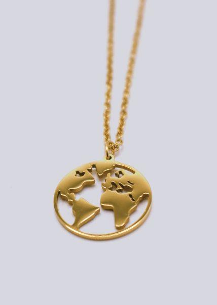 """Halskette """"Welt"""", gold"""