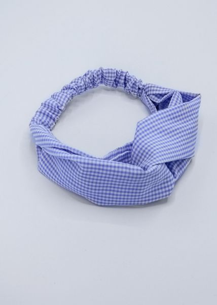 Haarband in Vichykaro, blau