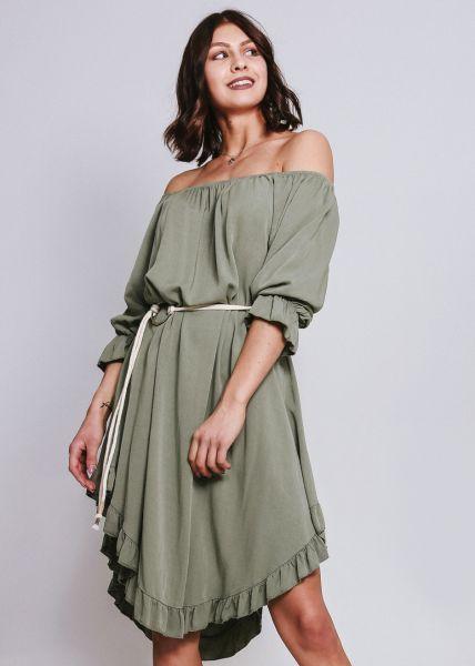 Carmen-Kleid, khaki