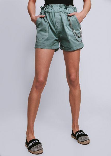Shorts mit Ketten, petrol