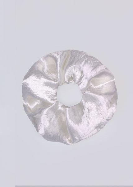 Satin-Scrunchie, weiß
