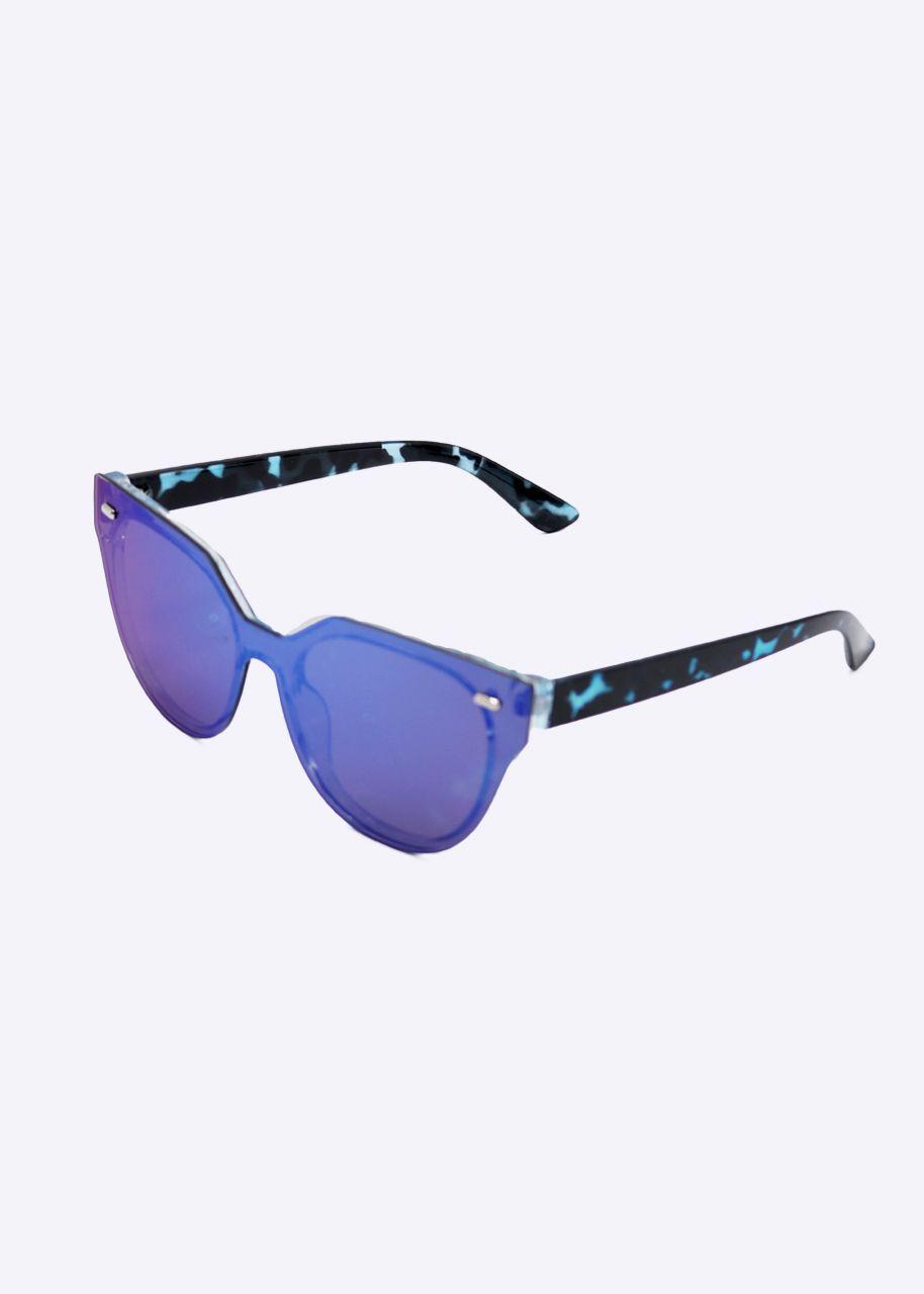 Sonnenbrille, blau