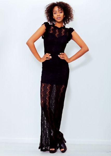 Abendkleid aus Spitze, schwarz
