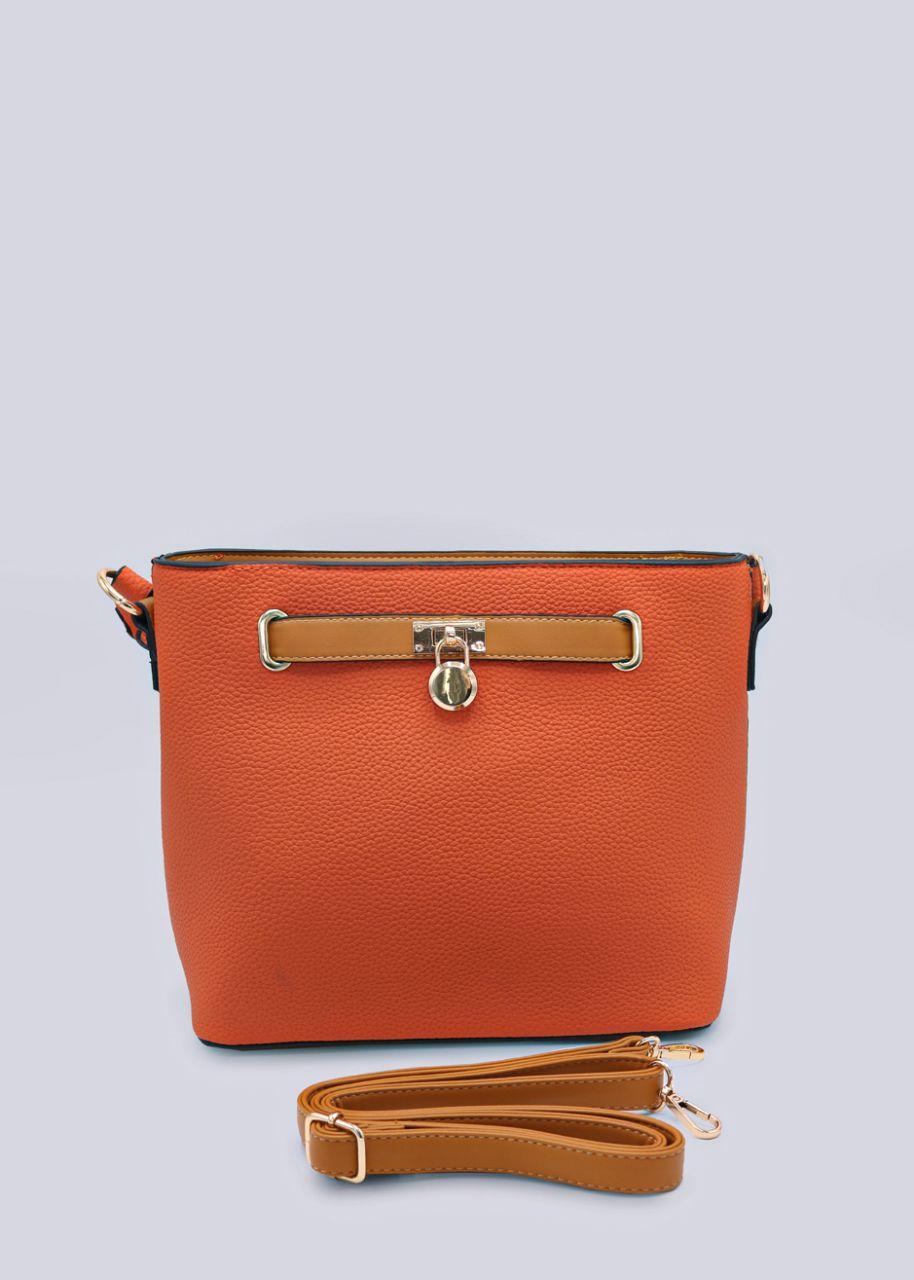 Henkeltasche mit gold Details, orange