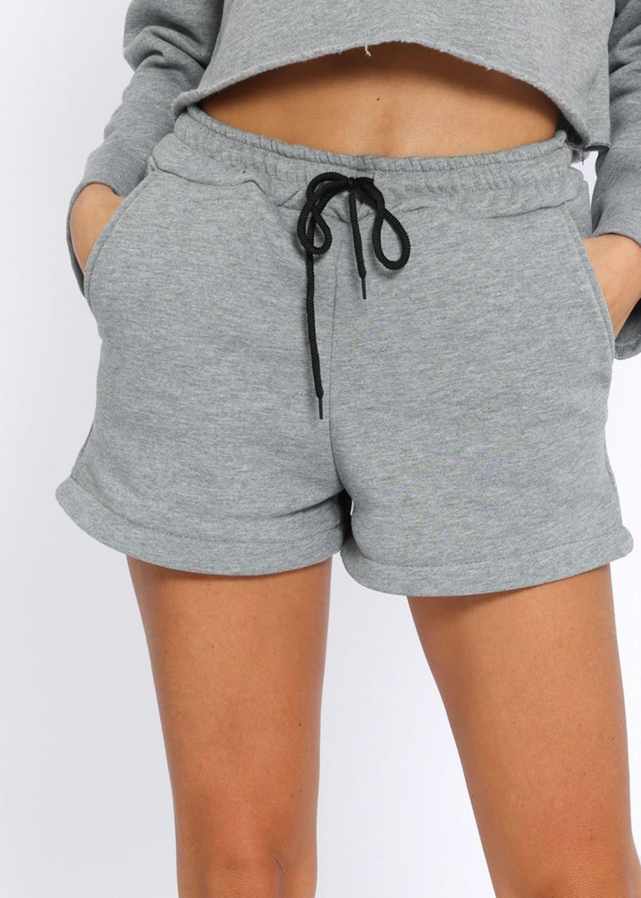 Cosy Lounge-Shorts, grau