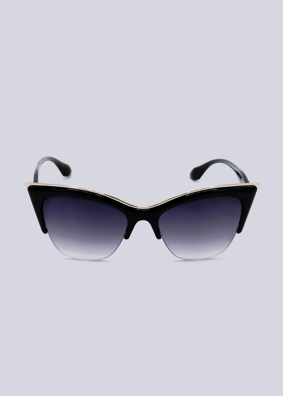 8847a5c90faeaf Cat-Eye Sonnenbrille mit gold Akzent, schwarz | Sonnenbrillen ...