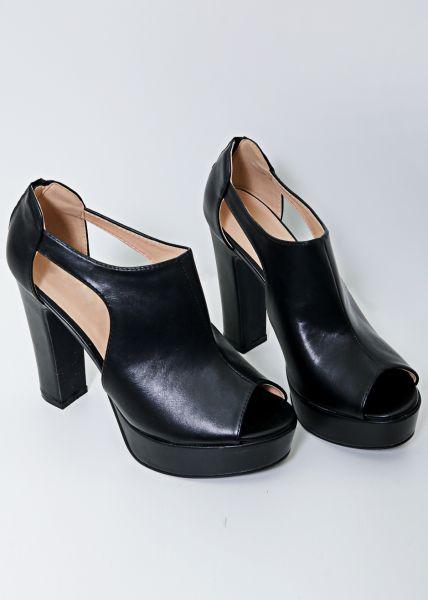 Cut-Out Heels, schwarz