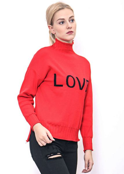 """LOVE"" Pullover, rot"