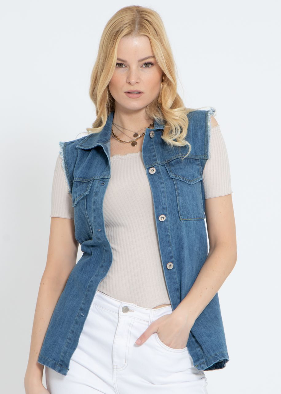 Jeans-Weste, blau