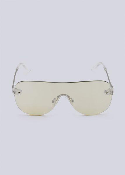 Rahmenlose Sonnenbrille, gelb