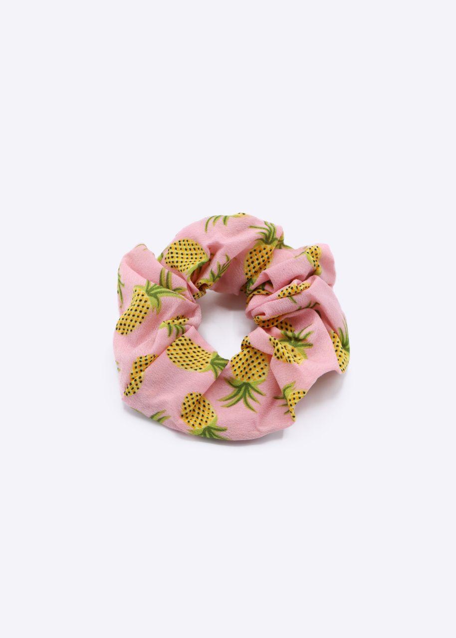Scrunchie mit Ananas-Print, rosa