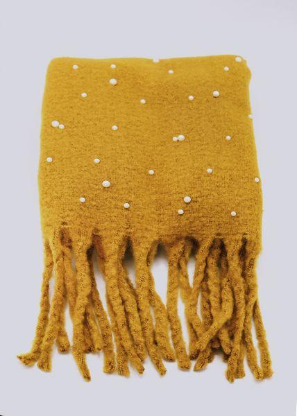 Perlenschal, gelb
