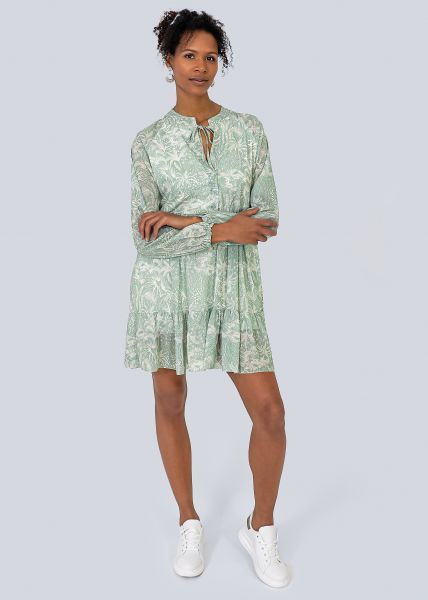 Hängerchenkleid mit Palmen-Print, khaki