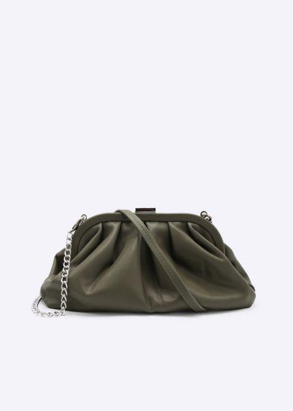 Mittelgroße Slouchy-Bag, oliv