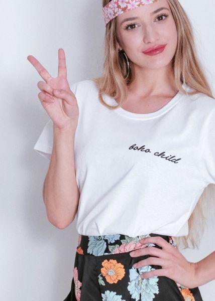 "T-Shirt ""boho child"", weiß"
