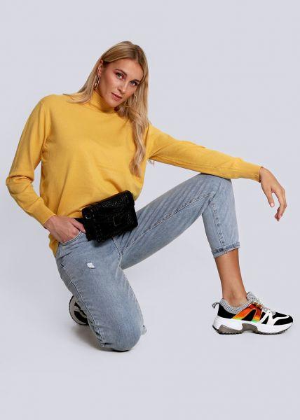 Turtleneck-Pullover, gelb