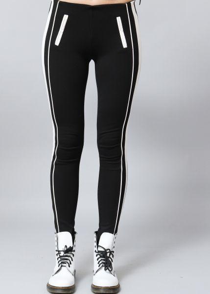 Leggings mit weißen Streifen