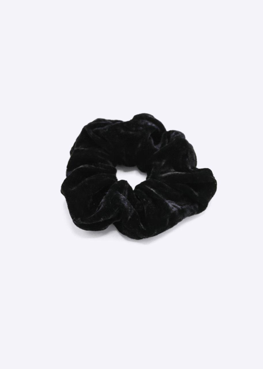 Scrunchie aus Velvet, schwarz