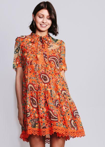 Hängerchenkleid mit Print, orange