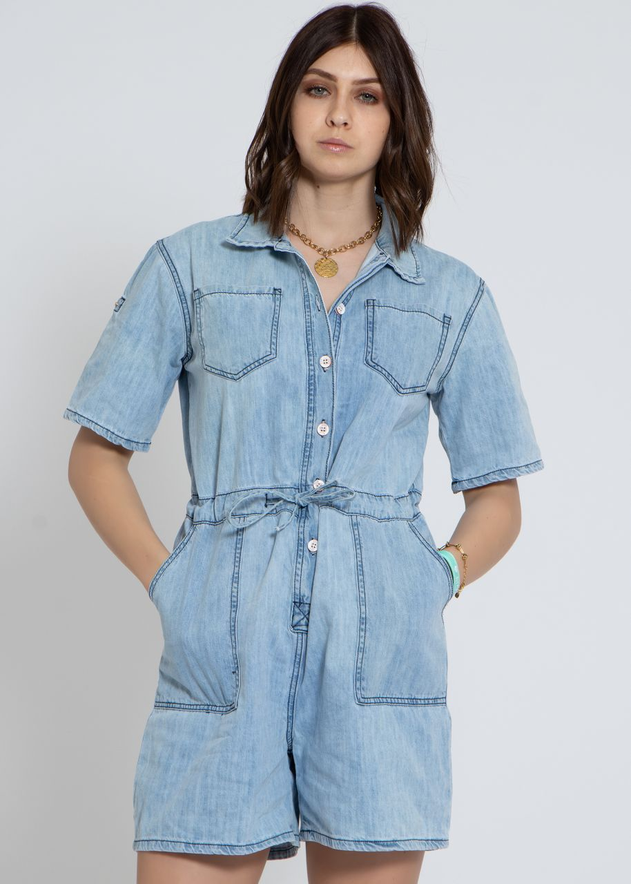 Jeans-Jumpsuit, blau