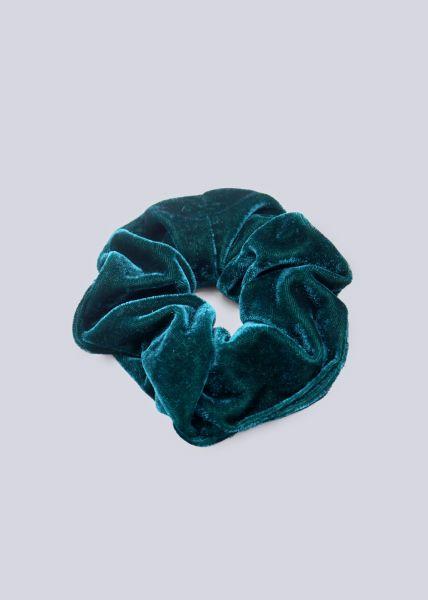 Scrunchie aus Velvet, dunkelgrün