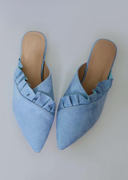Pantoletten, blau