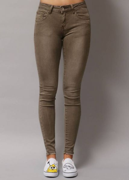 Midwaist Jeans, taupe