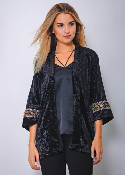 Samt-Kimono, schwarz