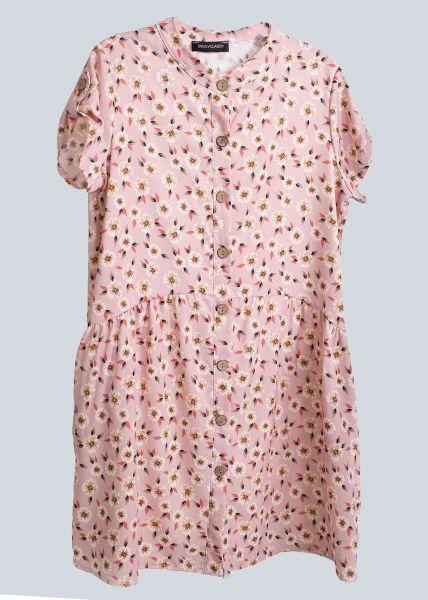 Kleid mit Blumen-Print, rosa