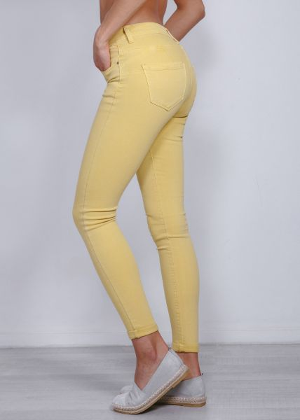 Push Up Jeans, gelb