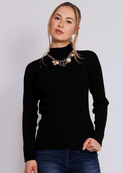 Turtleneck-Pullover, schwarz