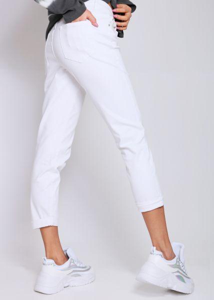 Midwaist Jeans, weiß
