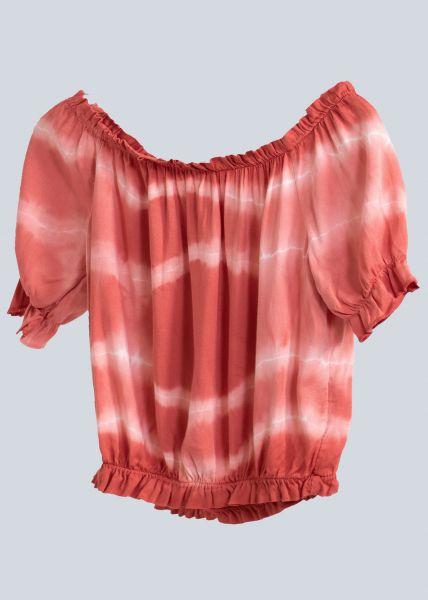 Schulterfreies Batik-Top, hummer