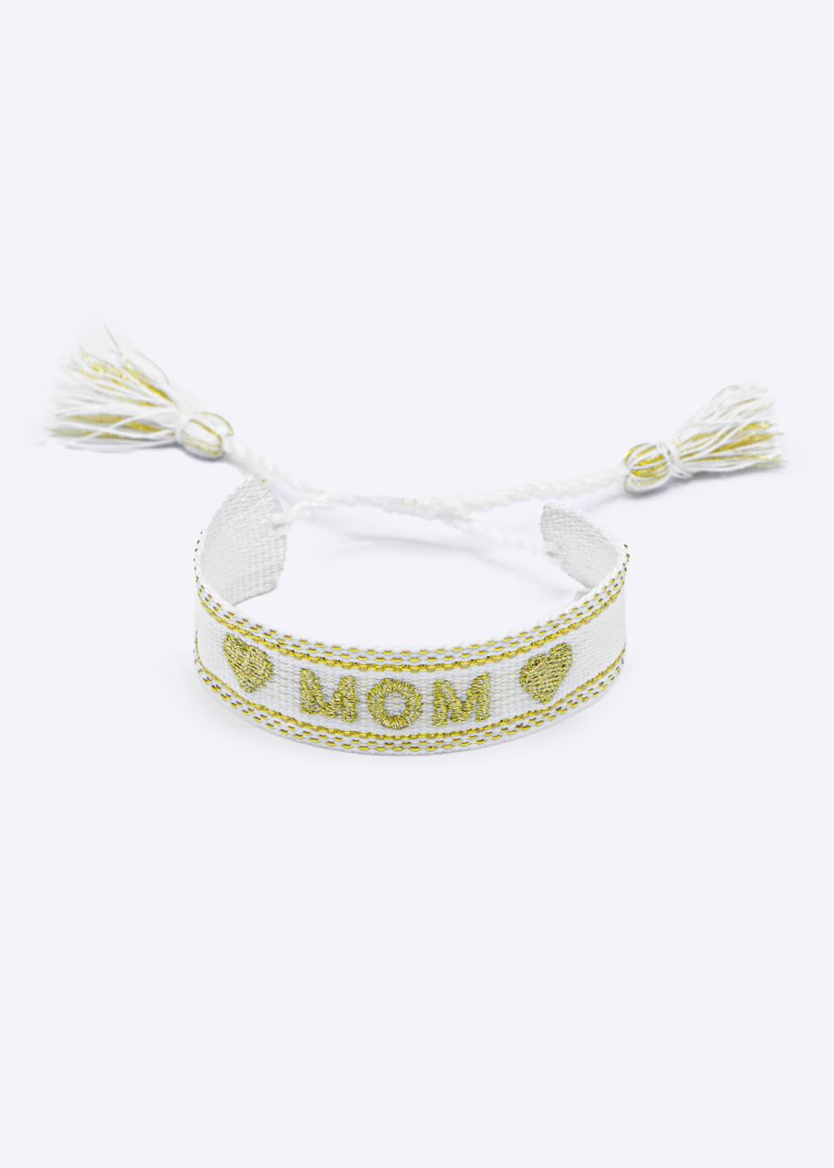 MOM Band, weiß/gold