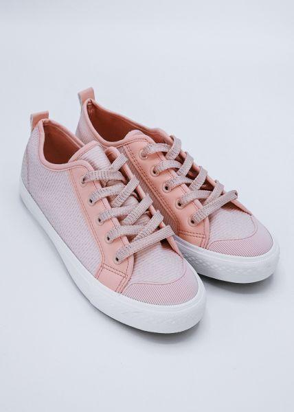 Sneaker mit leichtem Glitzer, rosa